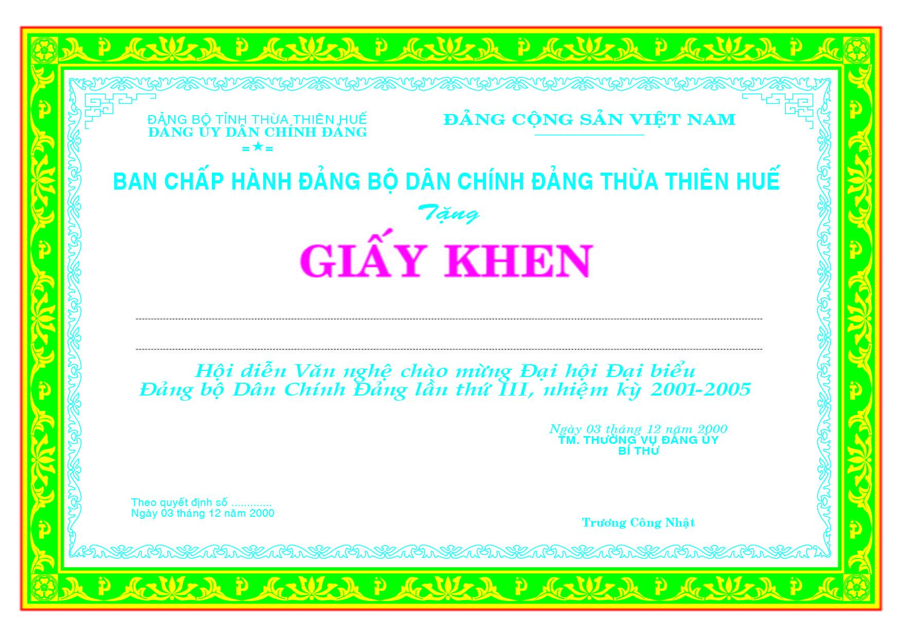 Mẫu giấy khen 012 - mẫu giấy khen Ban Chấp Hành - Link Download : https://adsnew.net/vKZ4qR