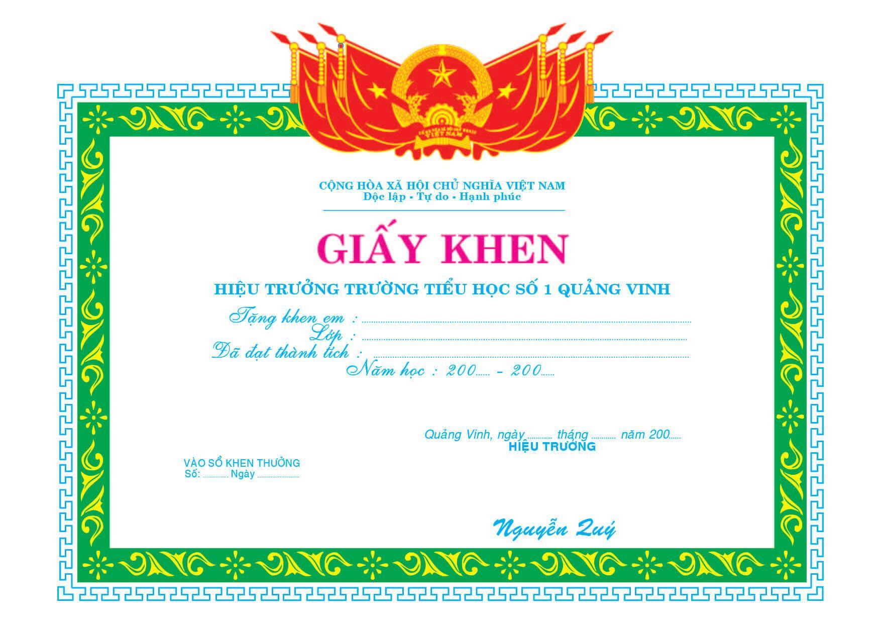 Mẫu giấy khen 017 - mẫu giấy khen phòng giáo dục - Link Download : https://adsnew.net/QIycB
