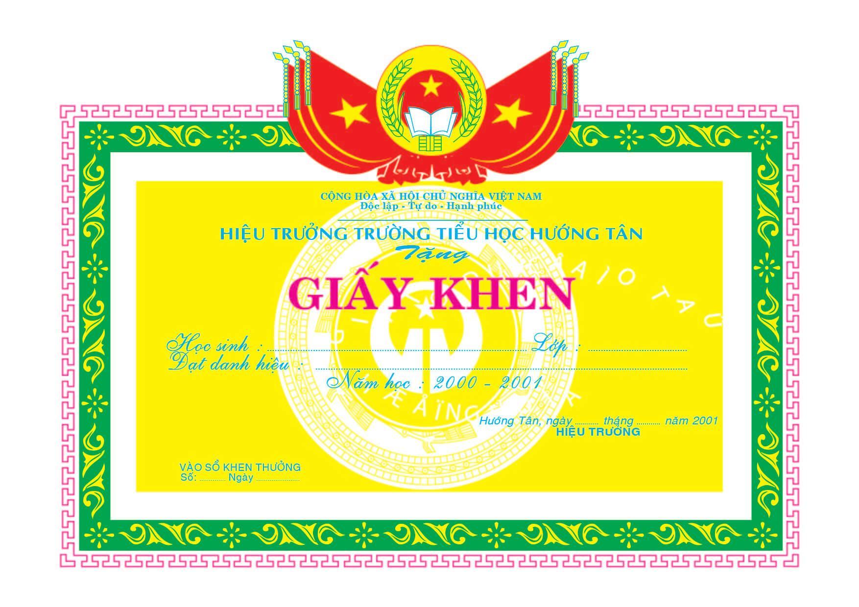 Mẫu giấy khen 020 - mẫu giấy khen trường tiểu học - Link Download : https://adsnew.net/LWc2