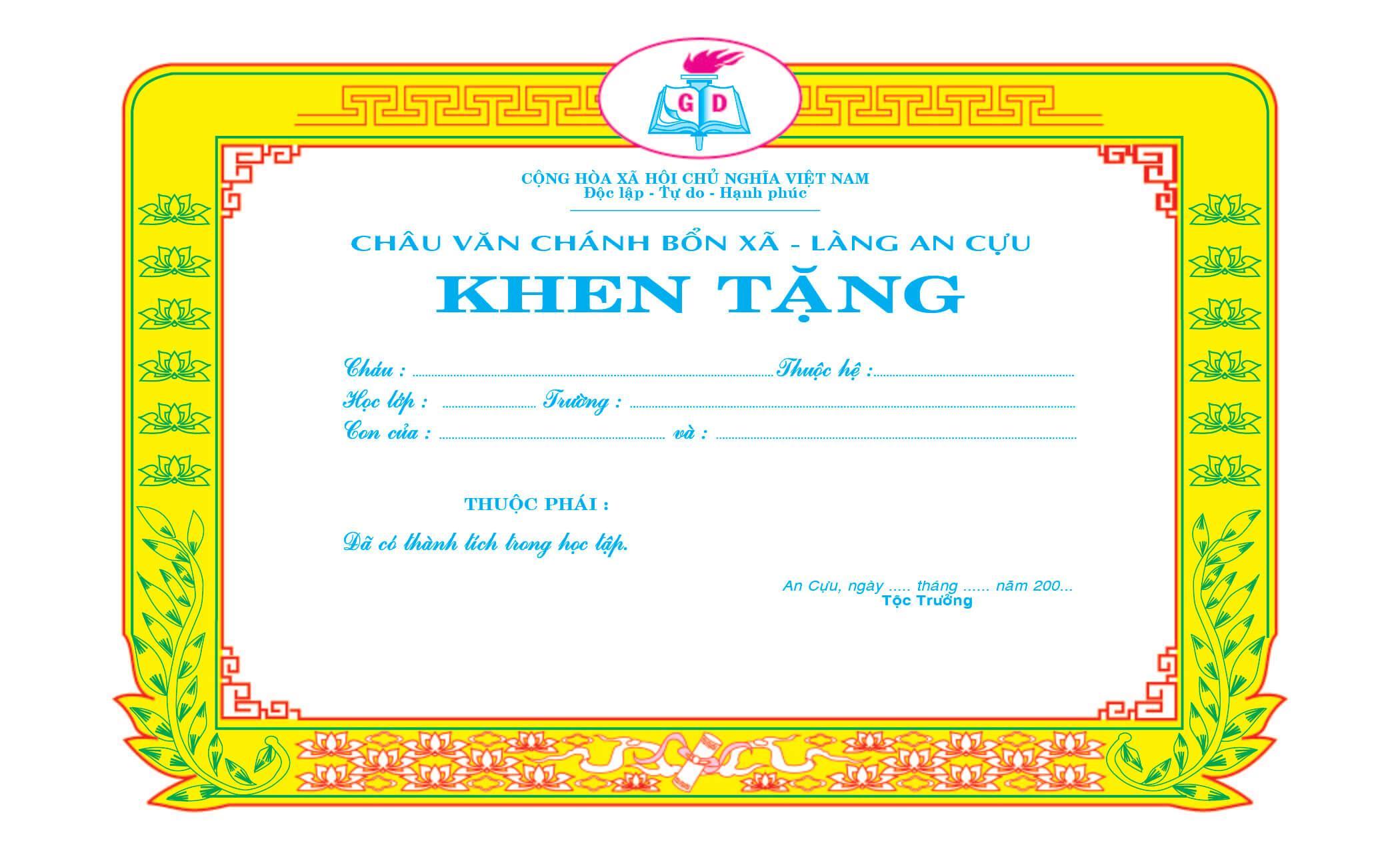 Mẫu giấy khen 028 - mẫu giấy khen làng - Link Download : https://adsnew.net/vKSt