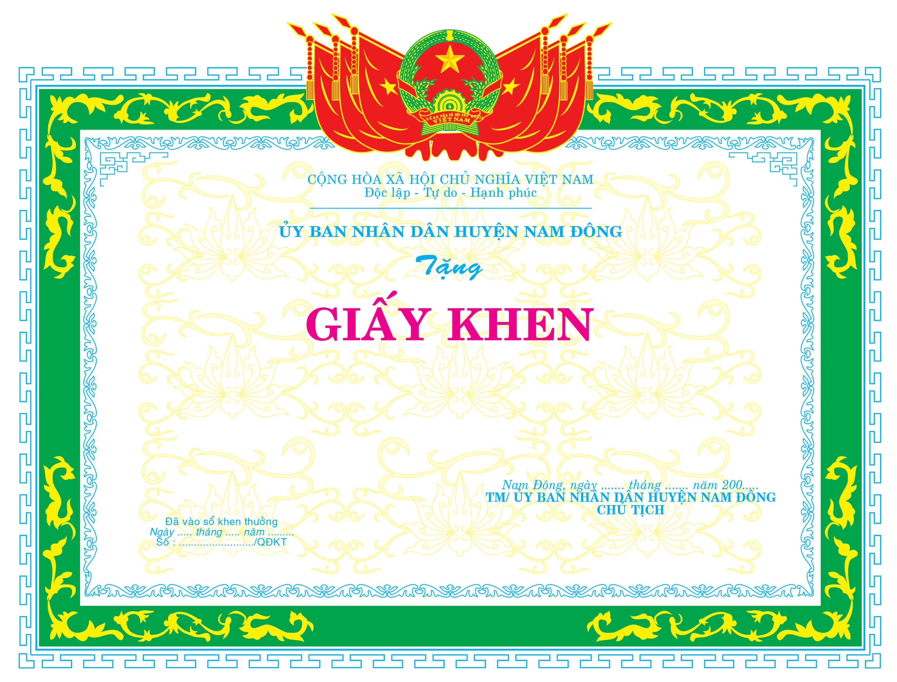 Mẫu giấy khen 041 - Mẫu giấy khen Ủy ban nhân dân - link download : https://adsnew.net/b0WX