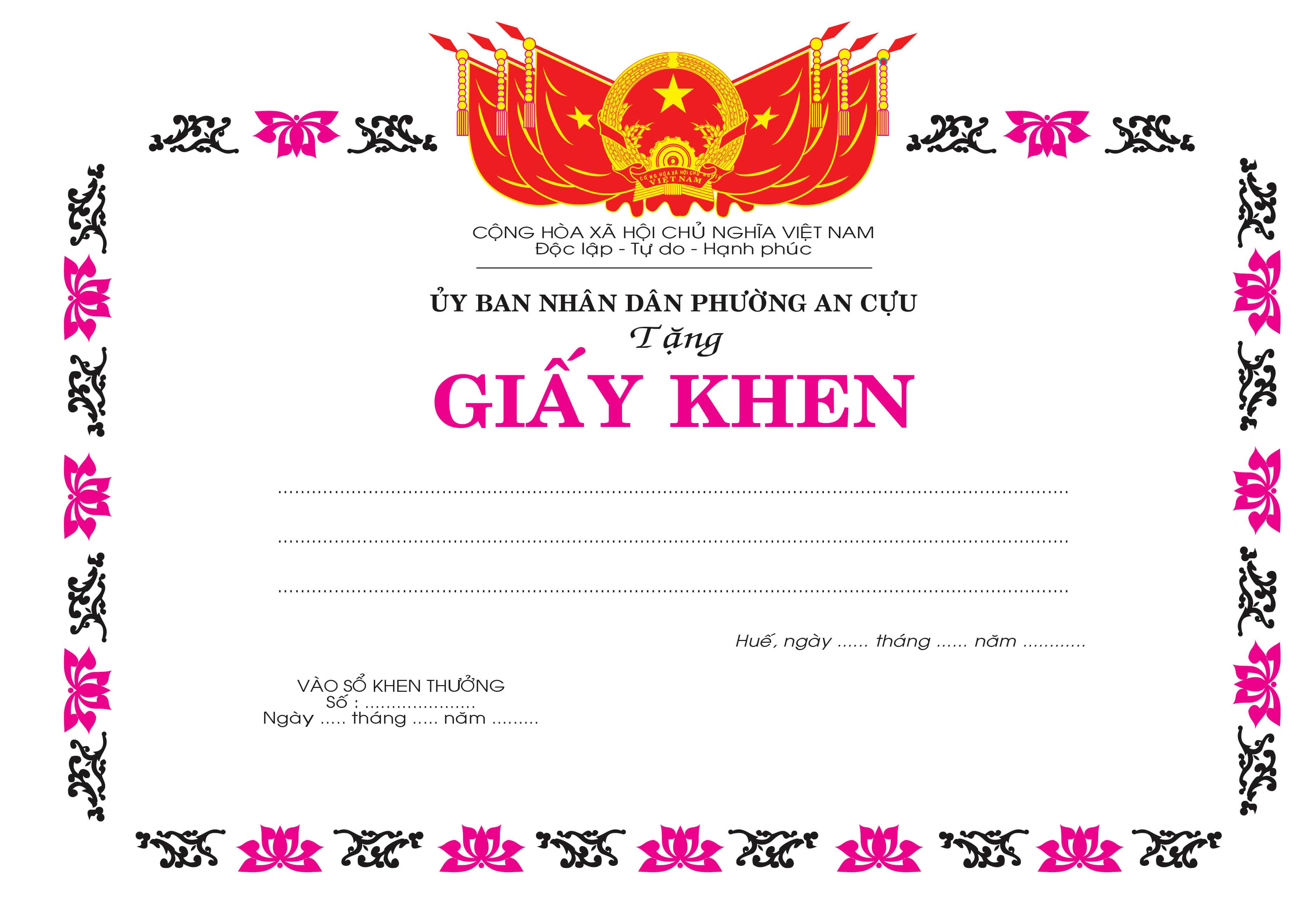 Mẫu giấy khen 052 - Mẫu giấy khen ủy ban phường - link download : https://adsnew.net/06uvwo
