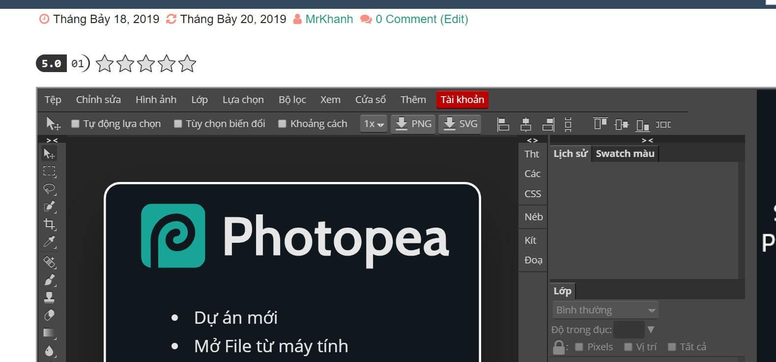 Photoshop Online | Photoshop miễn phí 2