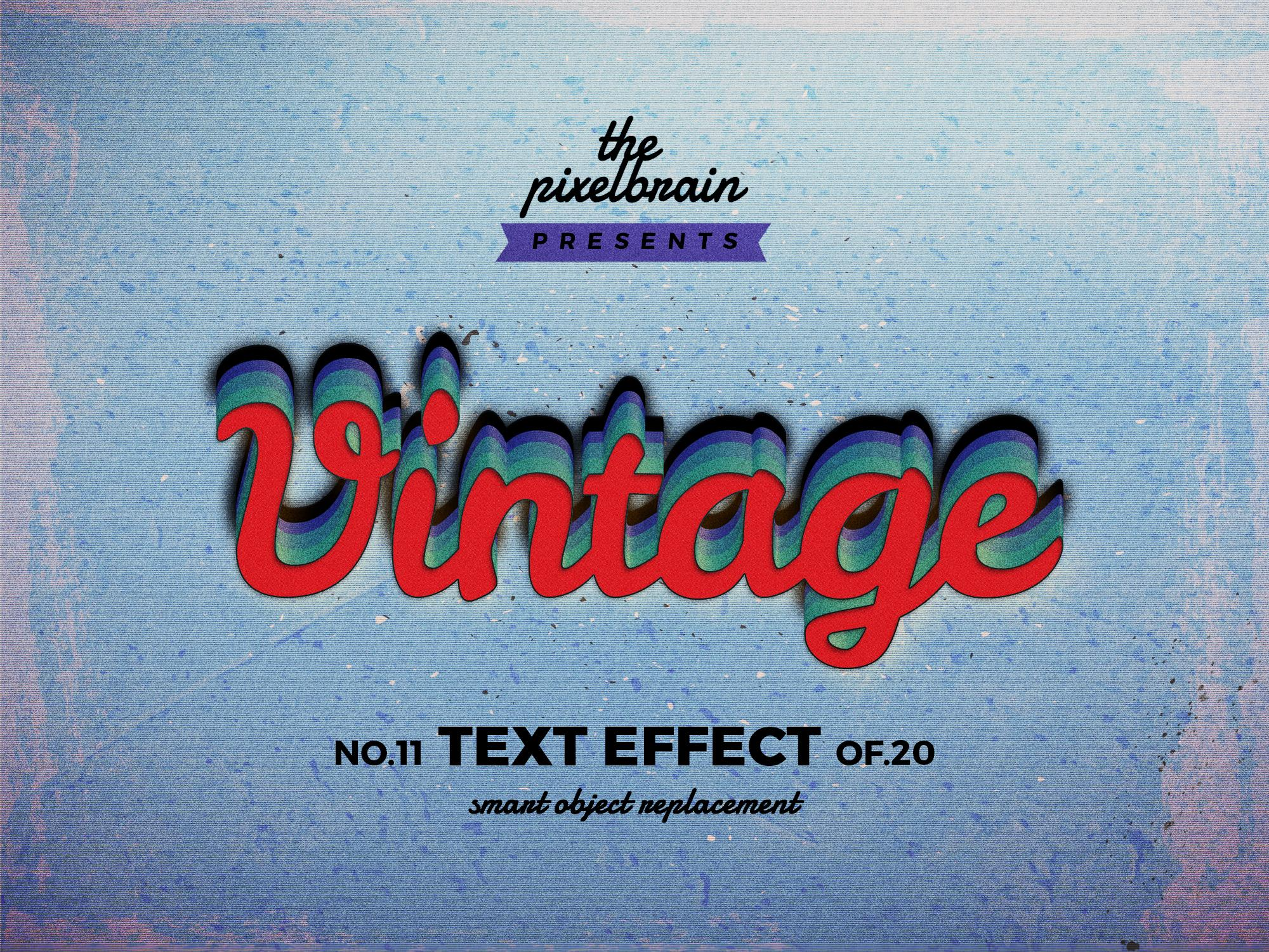 Chia sẻ bộ Retro Vintage Text Effects 1