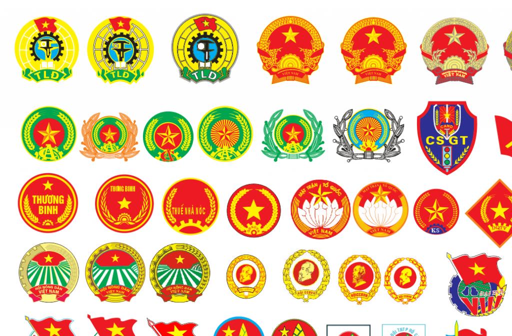 Bộ siêu tập file Vector logo khối nhà nước CorelDRAW 2