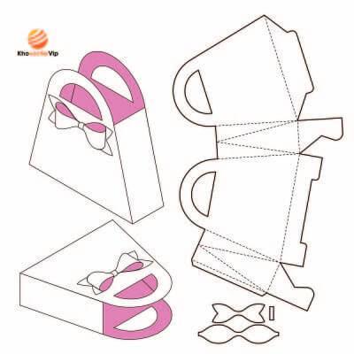 Vector mẫu thiết kế hộp giấy 21