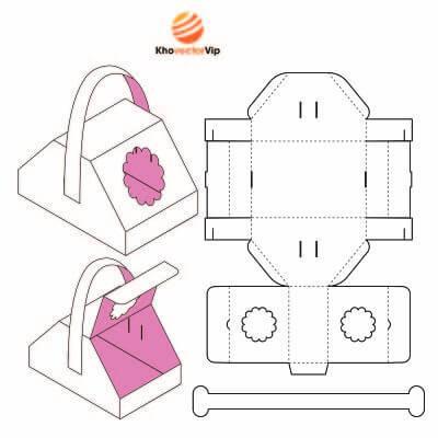 Vector mẫu thiết kế hộp giấy 22