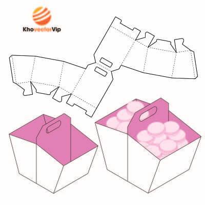 Vector mẫu thiết kế hộp giấy 23