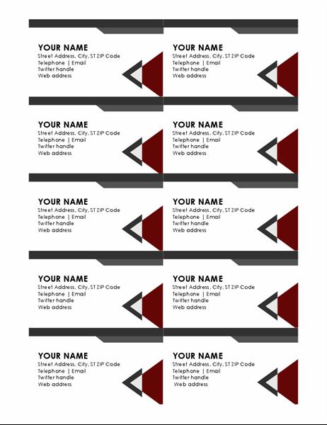 Mẫu Name Card bằng Word - Mã : namecardword005