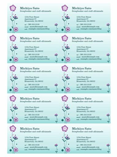 Mẫu Name Card bằng Word - Mã : namecardword004
